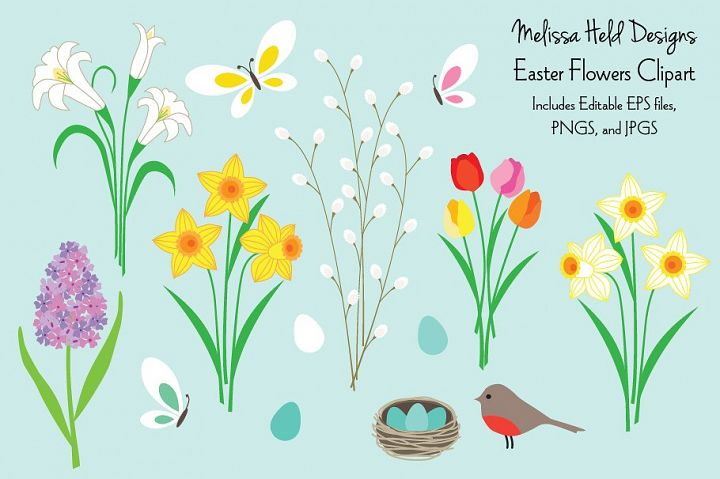 Easter Flowers Clipart