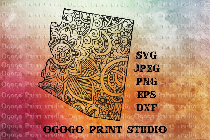 Arizona SVG, Zentangle SVG, Travel svg, Mandala svg