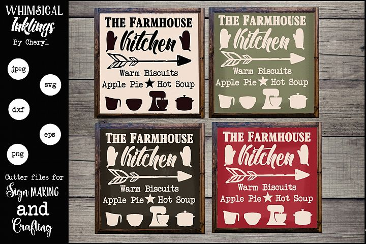 The Farmhouse Kitchen Sign SVG