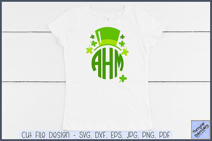 Irish Top Hat Monogram Topper - SVG and Clipart