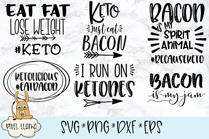 Keto Diet Bundle of 6 SVG Cut File
