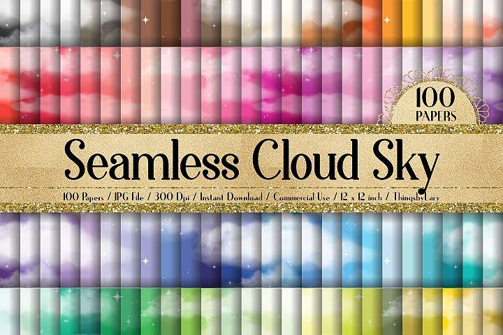 100 Seamless Fantasy Realistic Cloud Star Sky Digital Papers