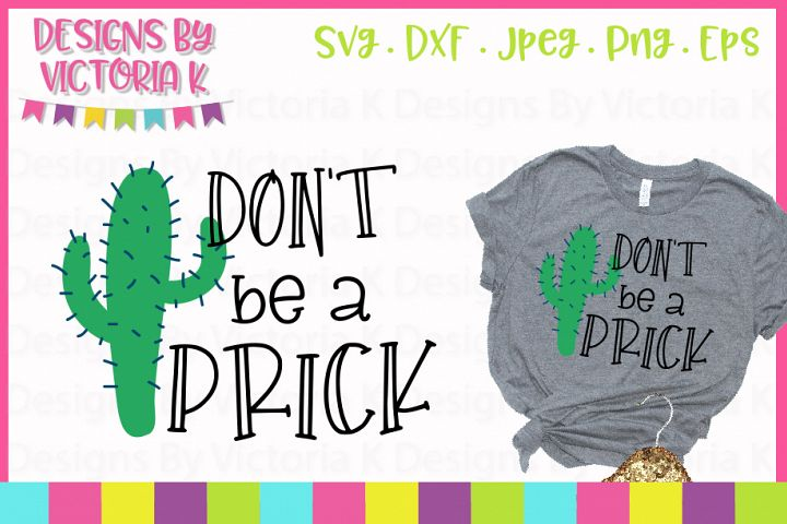 Dont be a prick, SVG, DXF, PNG