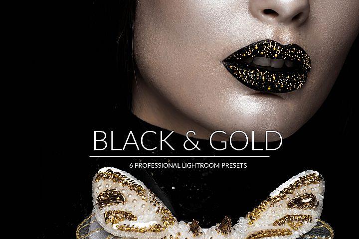 Black & Gold Lr Presets
