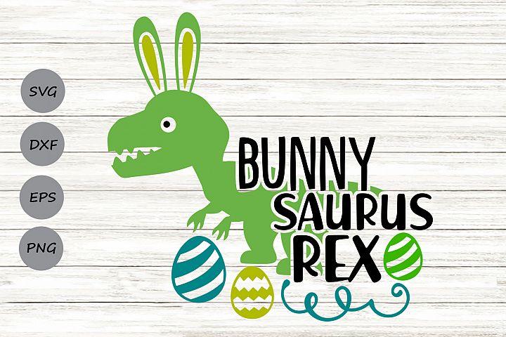 Bunnysaurus Rex Svg, Easter Svg, Easter Dinosaur Svg.