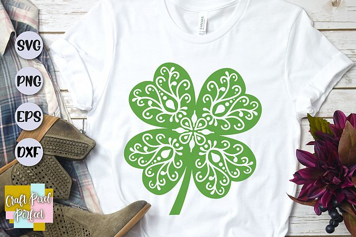 Clover Mandala Svg, St Patricks Day Svg, Mandala Cut File