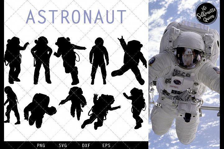 Astronaut svg file, svg cut file, silhouette studio