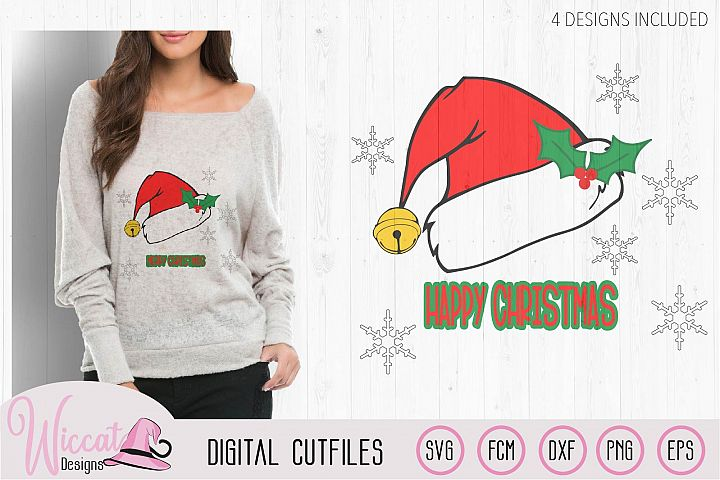 Christmas hat svg, Happy and Merry Christmas