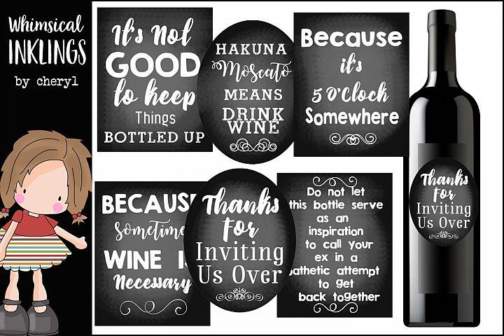 Chalkboard Wine Labels