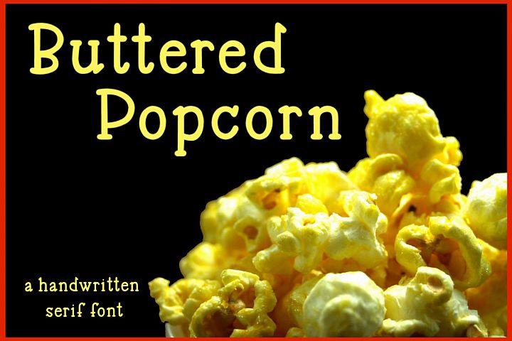 Buttered Popcorn - A handwritten serif font
