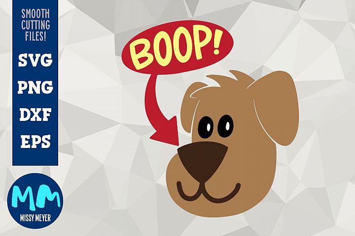 BOOP Puppy Dog Illustration - Hand-lettered Cut File
