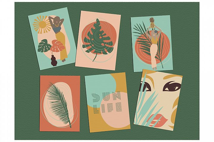 Digital Print - Abstract Art - Set of 6 Cards