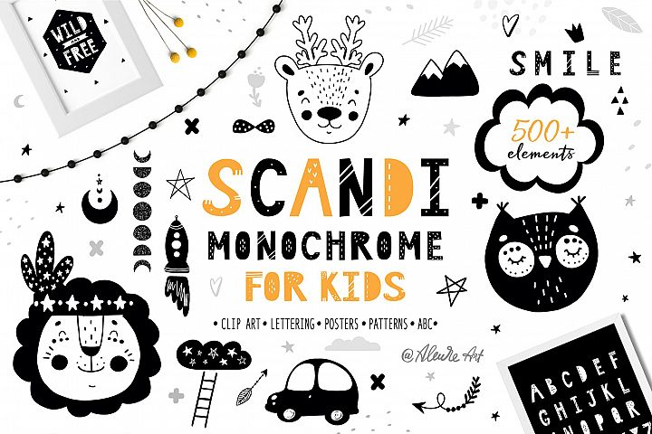 Scandinavian Monochrome for kids