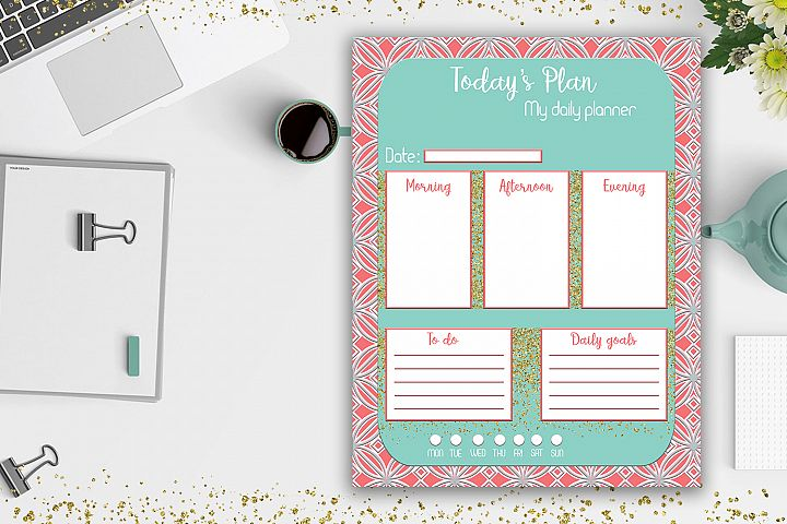 Daily Planner, Productivity Planner, Work Planner, OFF50