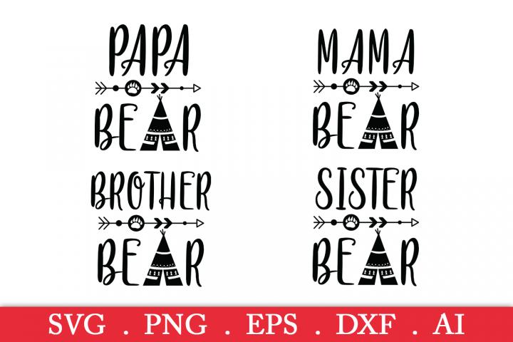 SALE! Arrow mama bear svg, papa bear svg, brother bear svg