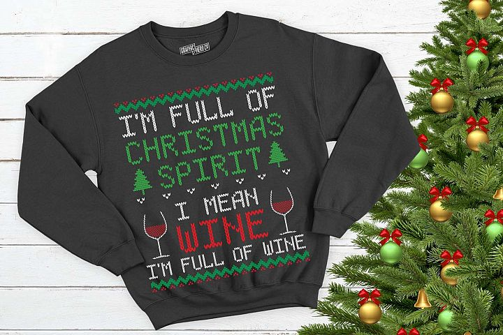Full of wine Christmas Printable