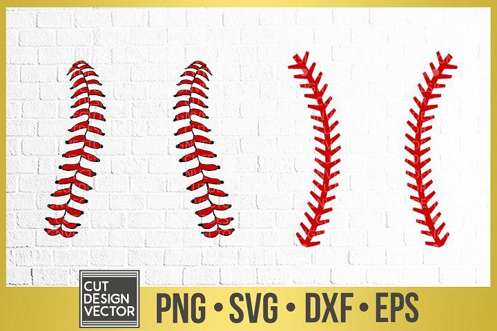 Baseball Stitches Svg