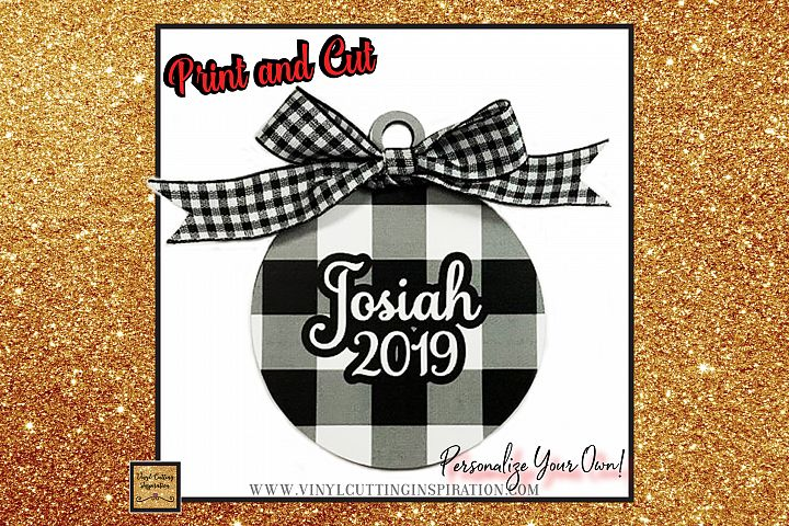 11 - Buffalo Plaid Christmas Ornaments Printable SVG Bundle