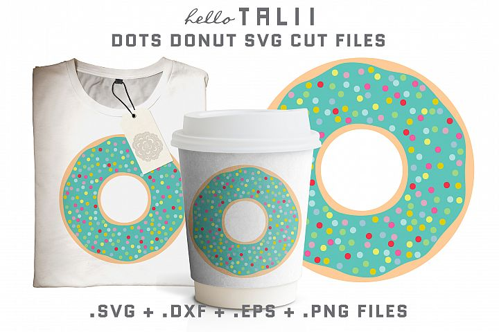 Dots Donut SVG Cut Files