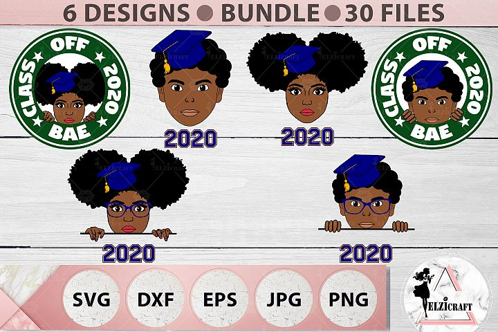 BUNDLE Afro Graduation, Black and Educated, BAE, Class, 2020