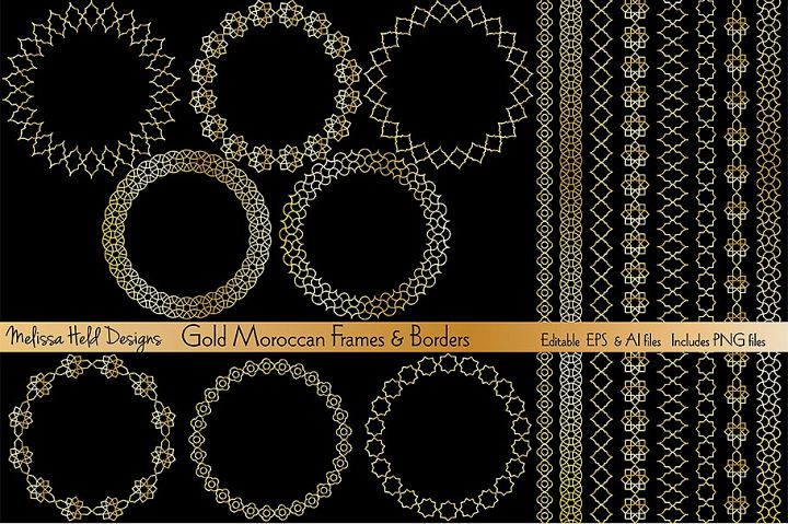 Gold Moroccan Frames & Borders
