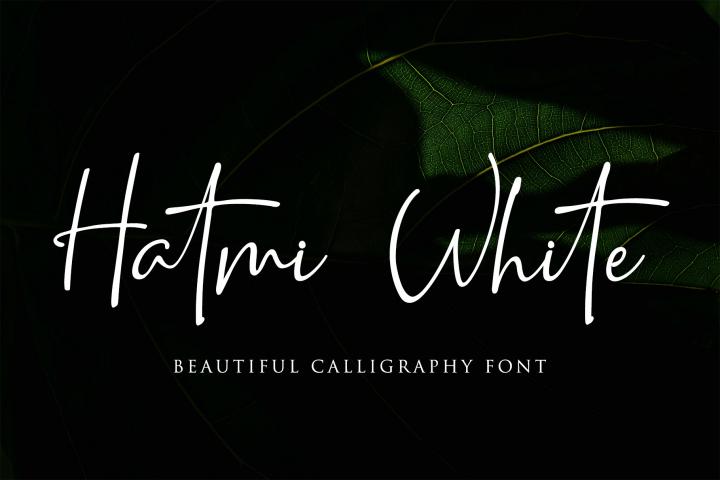 Hatmi White -Beautiful Calligraphy
