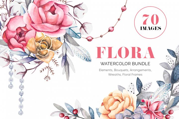FLORA - Pretty Pions & Succulents Bundle