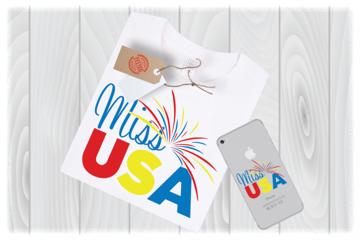 Miss USA Svg Files for Cricut Designs | 4th of July SVG