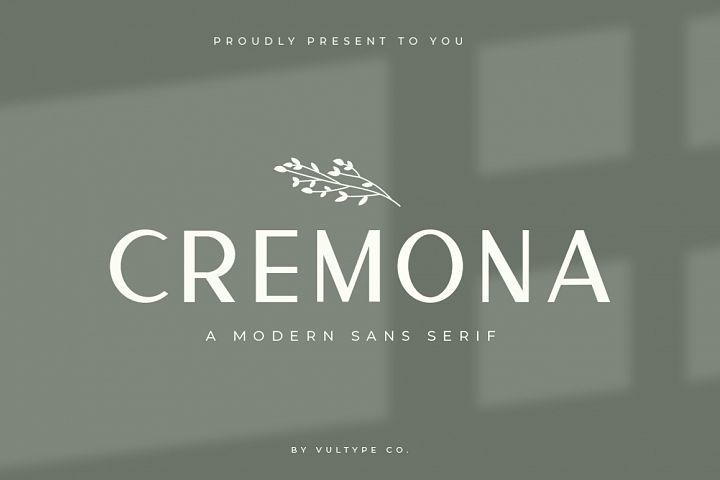 Cremona - Minimal Sans Serif