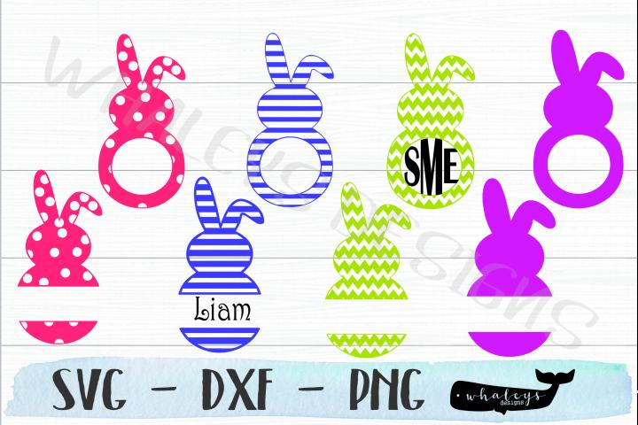 Monogram Bunny - Easter SVG