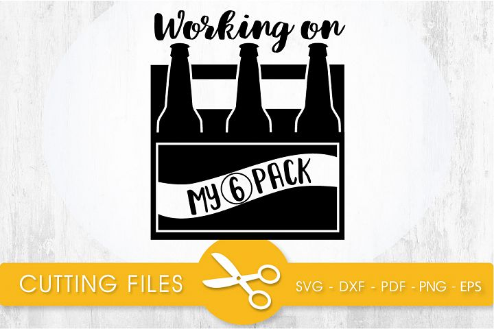 working on my 6 pack svg cutting file, svg, dxf, pdf, eps