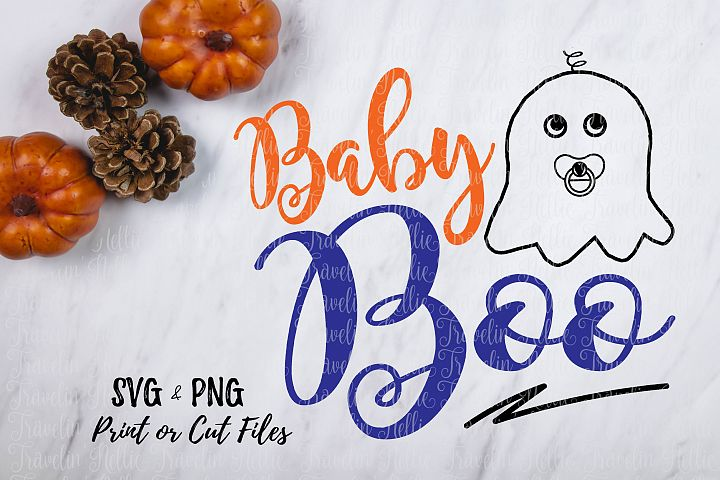 Baby Boo SVG Halloween Funny Ghost Image Kid Cut File