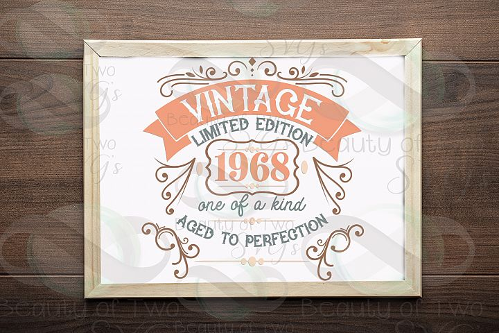 Vintage aged to Perfection Year Born svg & png, Customizable