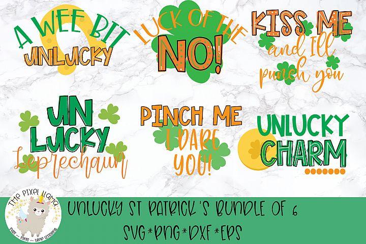 UnLucky St Patricks Bundle Of 6 SVG Cut File