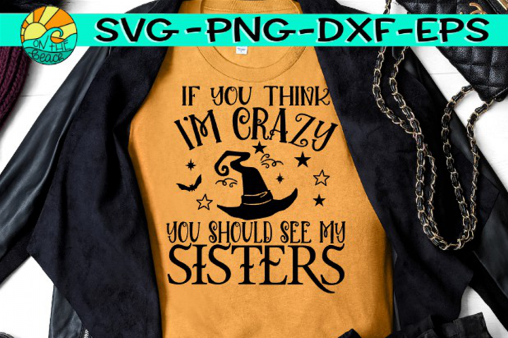 Crazy Witch Sisters - SVG PNG EPS DXF