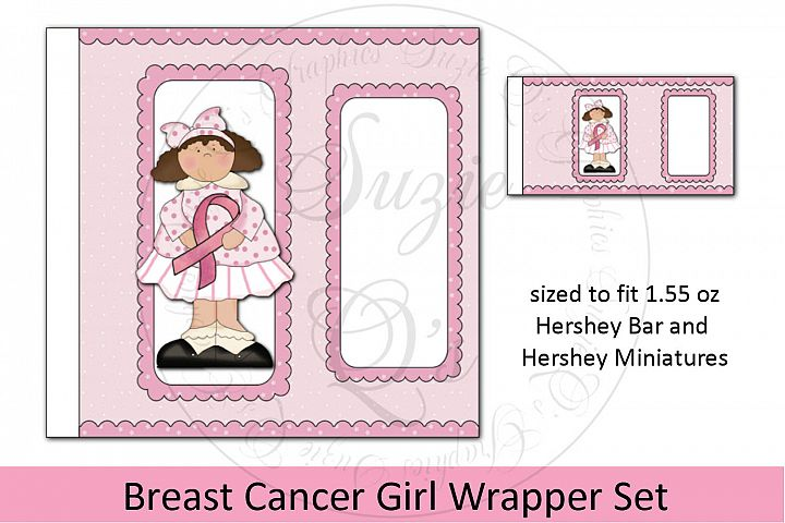 Breast Cancer Girl Candy Bar Wrapper Set