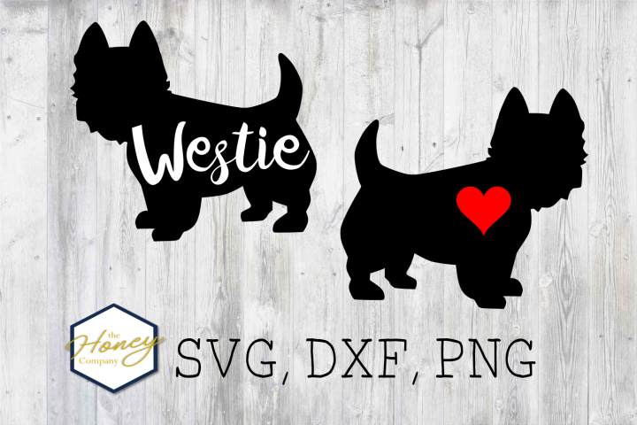 Westie SVG PNG DXF Dog Breed Lover Cut File Vector