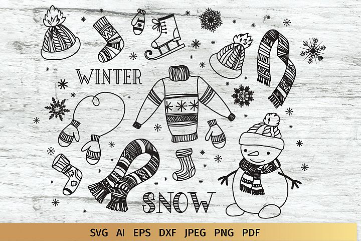 Winter Doodles Collection