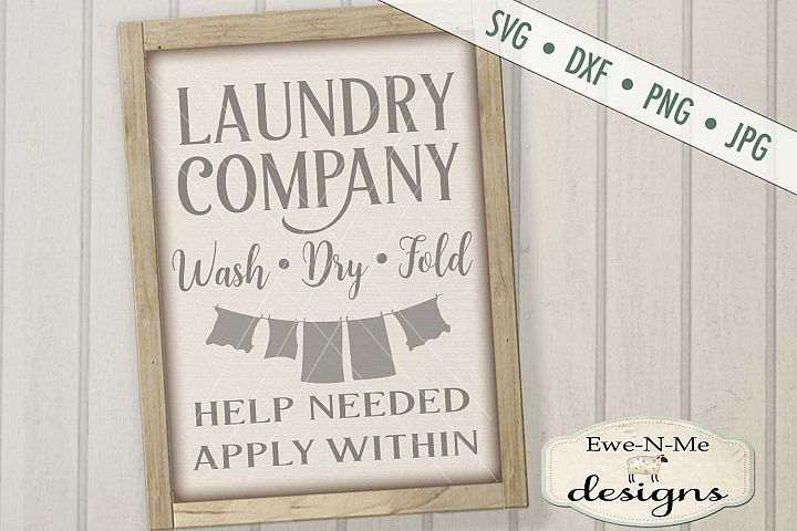 Laundry Company Help Needed SVG DXF Cut File