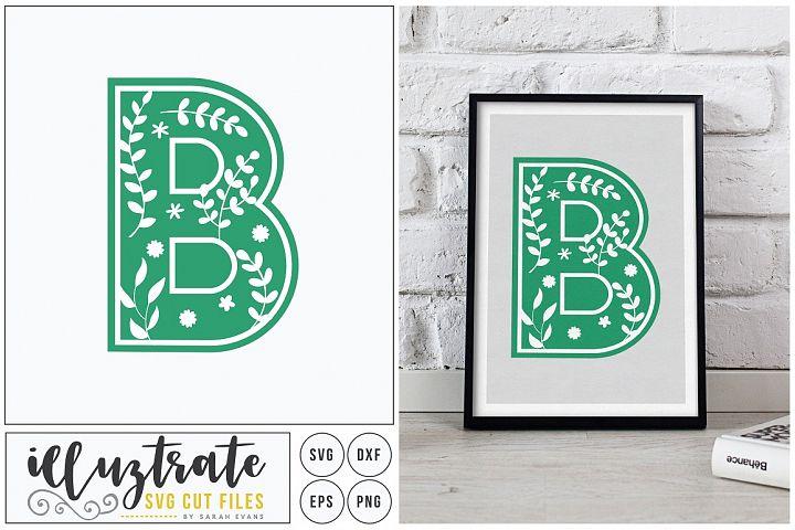 Letter B SVG Alphabet - DXF cut files - Vector Clipart