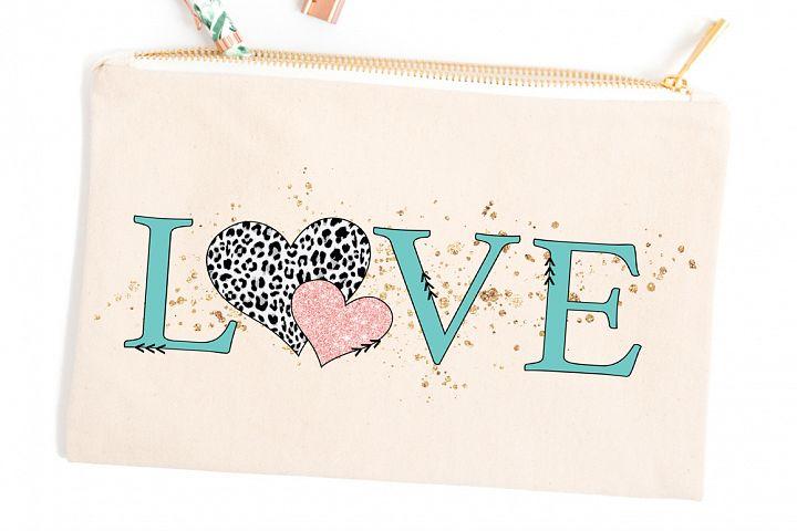 Valentines Day Sublimation Design - Love SVG