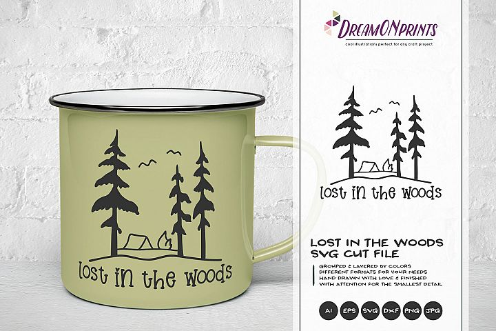 Lost in the Woods | Camping SVG | Wanderlust Illustration
