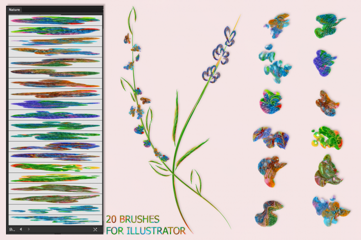 Nature Brushes for Illustrator