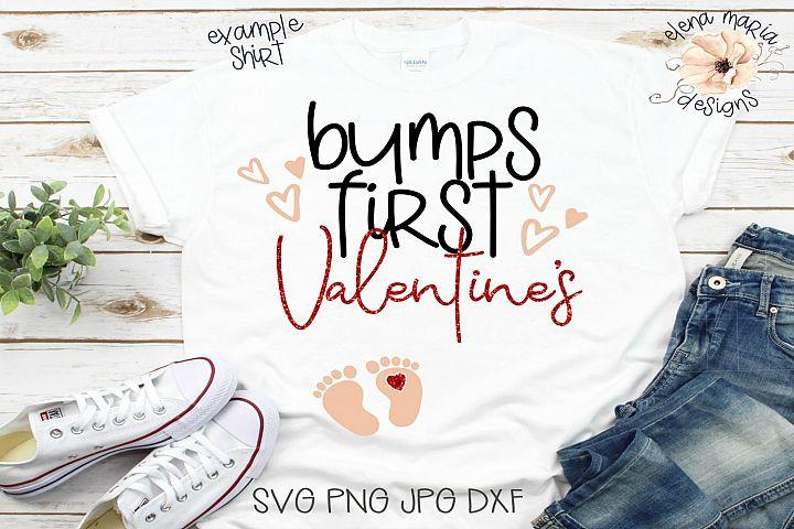 Bumps First Valentines Svg Cut