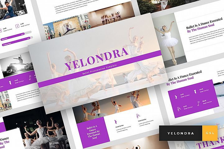 Yelondra - Ballet Google Slides Template