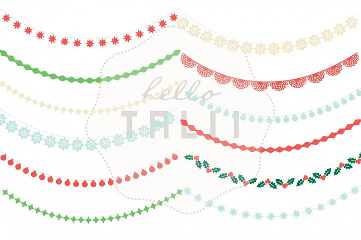 Christmas Garlands Clip Art example 2