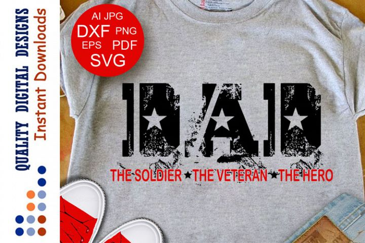 Fathers gift Military Svg Cut Files Veteran Army
