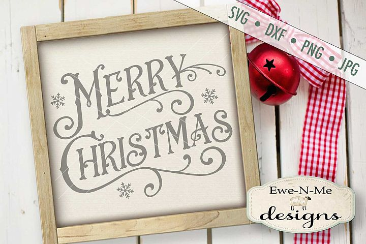 Victorian Merry Christmas SVG DXF Files