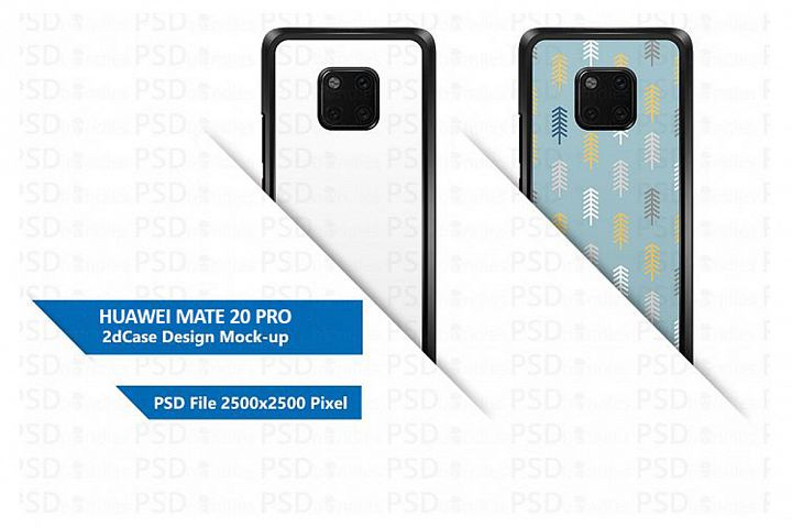Huawei Mate 20 Pro 2d Case Design Mock-up