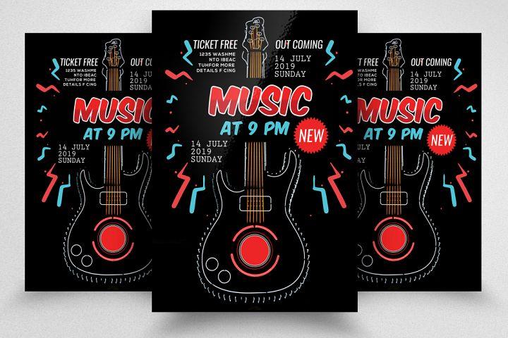 Music Concert Night Flyer Template